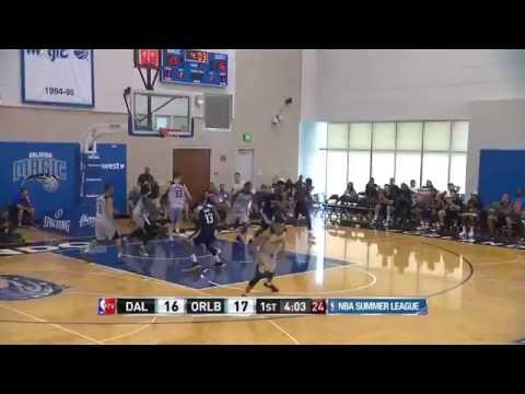 Satnam Singh Attacking The Rim Early  Mavericks vs Orlando Blue  July 5, 2016  NBA Summer League