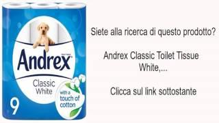 Andrex Classic Toilet Tissue White,...