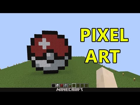 Minecraft Pixel Art Pokè Ball Tutorial Ita Youtube