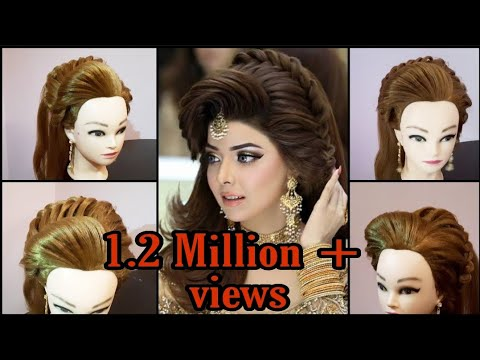 Kashee's Attention Grabbing Hairstyle. Unique and trendy Hairdo. Updo For Brides