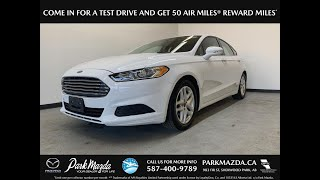 WHITE 2015 Ford Fusion  Review   - Park Mazda