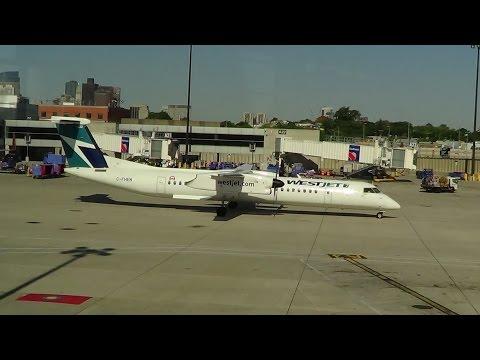 WestJet Encore Bombardier Q400 Flight BOS-YYZ