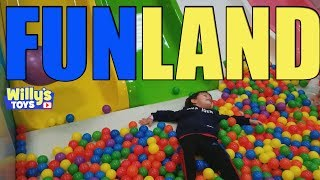 Willy having the time of his life at FUN LAND! Play Balls Slides Bounce House - Willys Toys