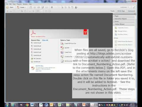 How to Automatically Add Trial or Deposition Exhibit Stickers to Multiple PDFs using Adobe Acrocat
