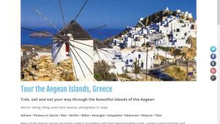 Undiscovered Greece microsite