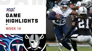 Titans vs. Raiders Week 14 Highlights | NFL 2019