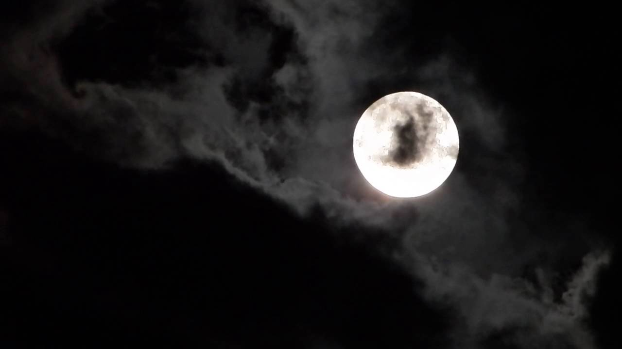 watching the moon at night
