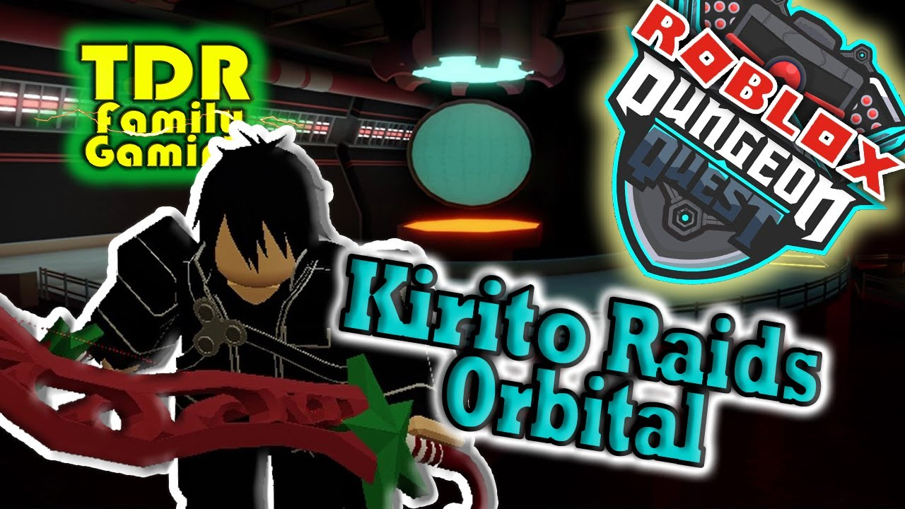 KIRITO CRUSHES ORBITAL OUTPOST ANIME STYLE in Dungeon Quest