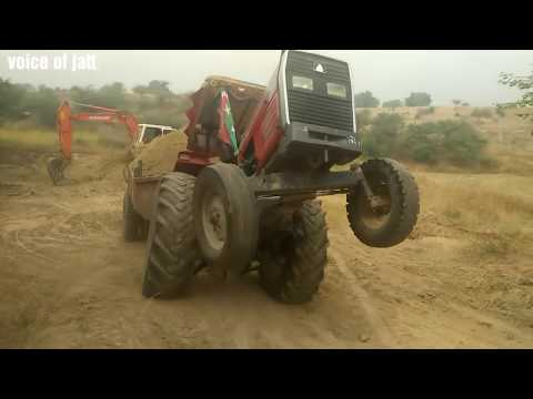 Dangerous Tractor Stunt in Punjab I massey taractor 385 unlimited power