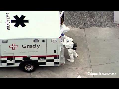 Ebola stricken American medic arrives in US from Liberia