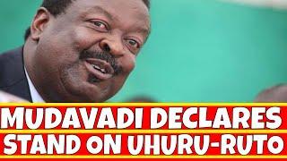 Musalia Mudavadi Declares stand on Uhuru Kieleweka and Ruto Tanga Tanga teams