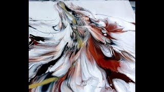 Acrylic Pouring WITHOUT A CUP - MUST SEE!!
