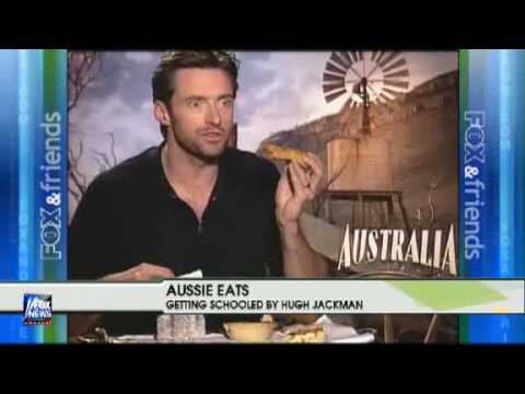 Hugh Jackman promoting Australia movie on FOX and Friends