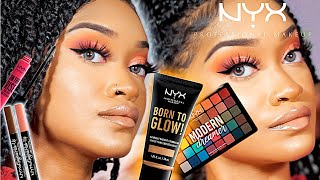 FULL FACE of NEW NYX COSMETICS - BORN TO GLOW | One Brand Makeup Tutorial | Bri Hall