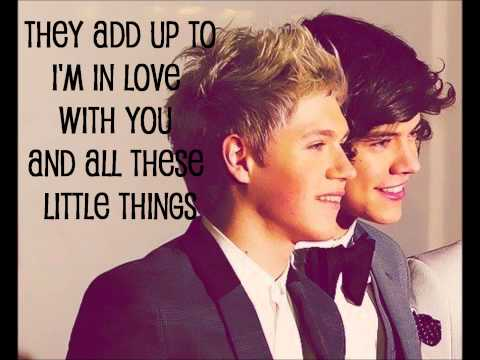 Little Things - One Direction (Lyrics + Pictures)