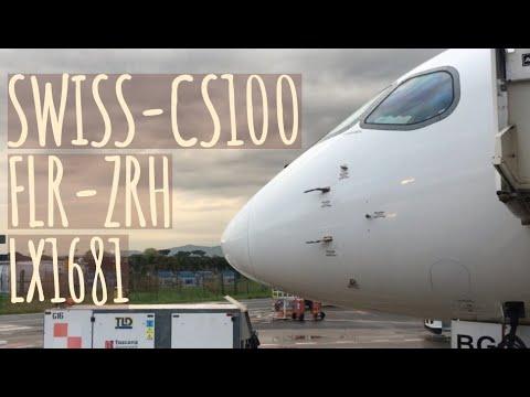 LX1681 Swiss Global Air Lines CS100 FLR-ZHR Full Flight Experience