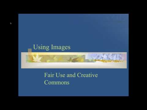 Images, Creative Commons and Copyright