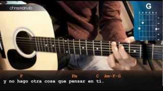 """Cómo tocar """"Te quiero"""" de Hombres G en Guitarra Acústica- (HD) Tutorial - Christianvib"""