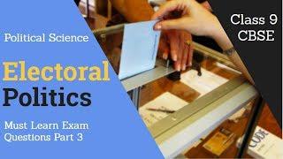 Chapter 4 Electoral Politics Sure Short Questions For Exams Part 3