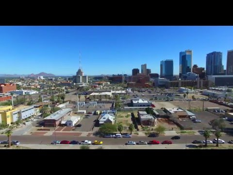 4K Skyline shots Phantom flying over Phoenix
