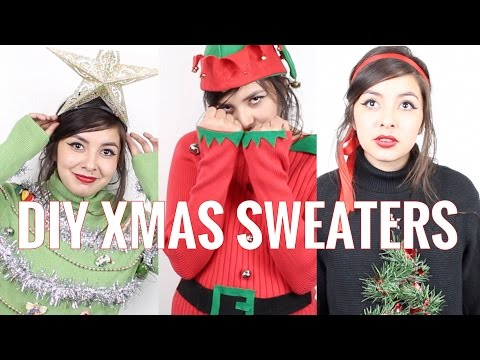 DIY UGLY CHRISTMAS SWEATERS | NO SEW