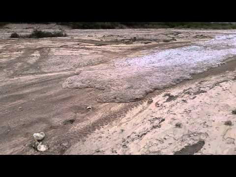 Flash flood Gila wash St. David Arizona
