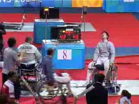 Athens 2004 paralympic wheelchair fenicing Team Saber final