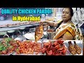 Best Non Veg Street Food in Hyderabad | Tasty Chicken Roasted Fry 60 Rs Per Plate | IndianStreetFood