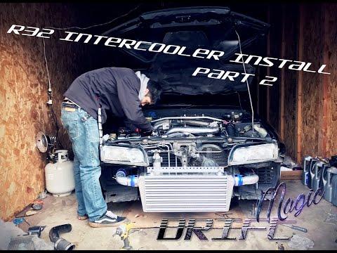 FRONT MOUNT INTERCOOLER KIT FOR NISSAN SKYLINE R32 R33 R34 GTST GTS RB20 RB25