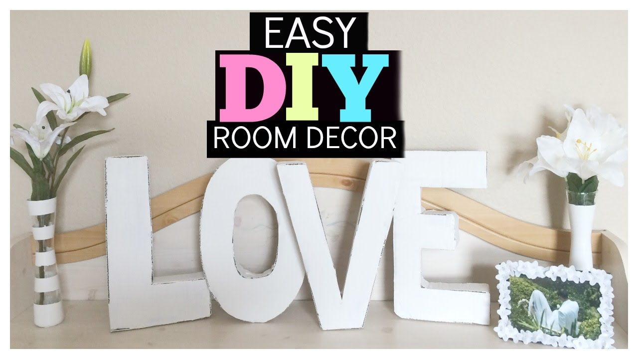 Dollar tree diy room decor doovi for Room decor videos diy