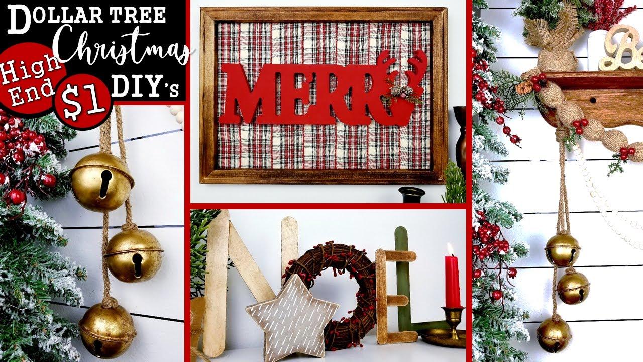 $1 HIGH END DOLLAR TREE CHRISTMAS DIY'S 🎄  Amazing CHRISTMAS Home Decor Ideas 2020