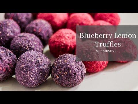Blueberry Lemon Truffle with Narrative (w/ Paleo Substitutes)