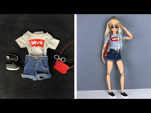 5 DIY Ideas for FASHION BARBIE CLOTHES| How to Make Doll Clothes and Accessories