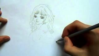 Видео: как нарисовать аниме девушку?(обучающее видео по рисованию аниме девушки простым карандашом поэтапно для начинающих., 2015-12-27T15:32:44.000Z)
