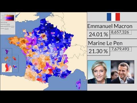[4K HD] French Presidential Election : First Round Results