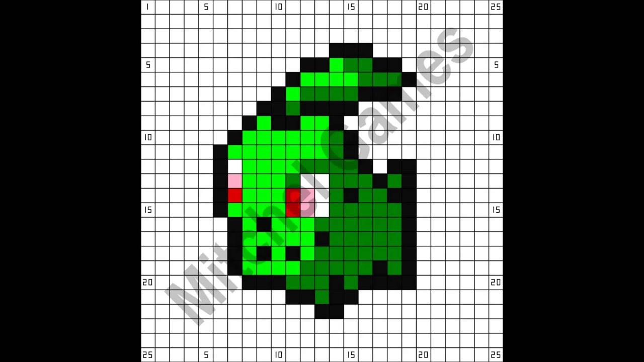 Minecraft - Pokémon - Chikorita (25x25 Pixel) (Template