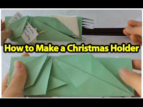 How to Make an Origami Christmas Utensil Holder