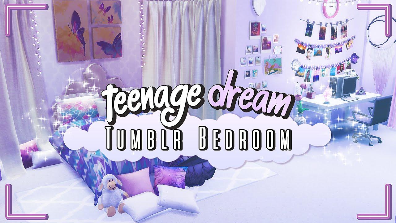Teenage Dream Room the sims 4: speed build |teenage dream- tumblr room - youtube
