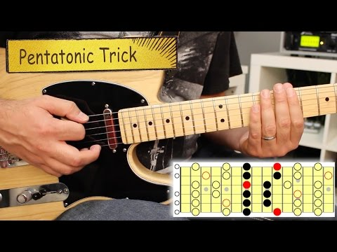Fusion Guitar Minor Pentatonic Trick