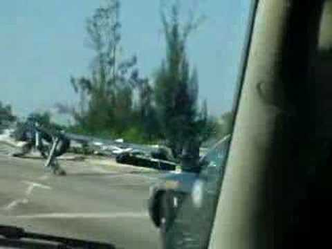 Boat Accident Boat high & dry on the Highway I-75 Florida