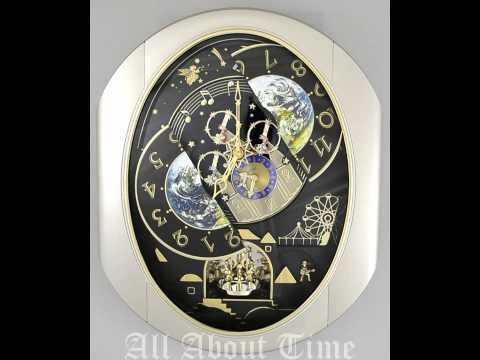 Rhythm Peaceful Cosmos Musical Clock