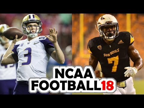 Washington @ Arizona State - 10-14-17 NCAA Football 18 PRESEASON Simulation