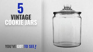 Best Vintage Cookie Jars [2018]: Anchor Hocking 77916 Heritage Hill Canister, Glass, 1/2-Gallon