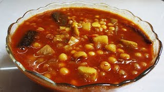 দকনর সটইল নরমষ ঘগন  Bengali Niramish Ghugni Recipe  Aloo Matar Curry  Bengali Recipe