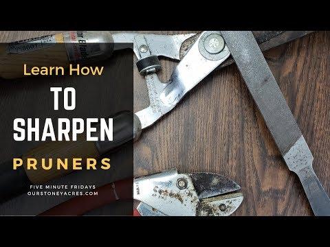 How to Sharpen Pruners - Garden Tool Care