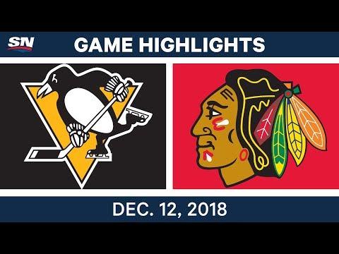NHL Highlights | Penguins vs. Blackhawks - Dec 12, 2018