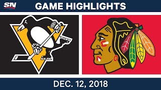 NHL Highlights | Penguins vs. Blackhawks - Dec 12, 2018