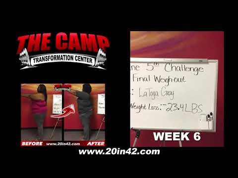 Arlington TX Weight Loss Fitness 6 Week Challenge Results - Latoya Gray
