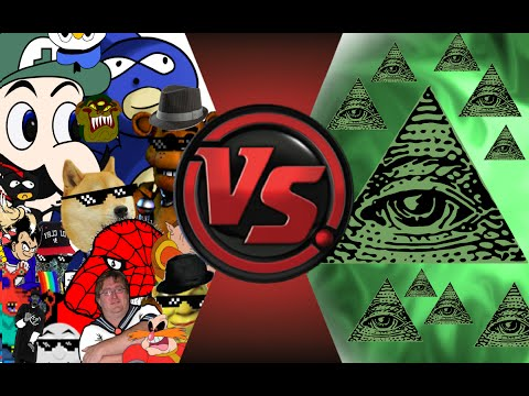 MLG and  POOP vs ILLUMINATI! FINAL FACE-OFF! Cartoon Fight Club Episode 33