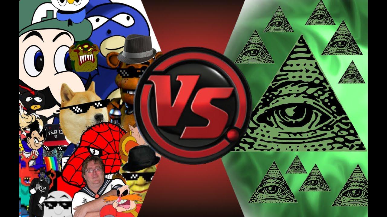MLG and YOUTUBE POOP vs ILLUMINATI! FINAL FACE-OFF! Car... | Doovi